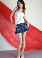 [Beautyleg腿模] No.053 大美女YoYo短裙肉丝秀修长美腿
