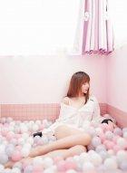 嫩模程梓粉色系私房照 将小女生俏皮可爱的气质表现得淋漓尽致